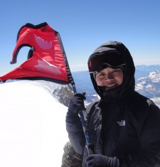 Maya proudly waves Nepali flag atop Elbrus