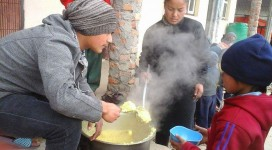 Chilaune School Cooking
